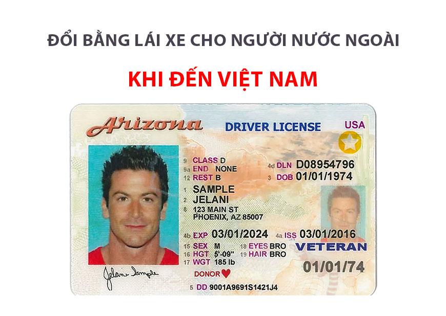 Thủ tục đổi bằng lái xe cho người nước ngoài ở Việt Nam